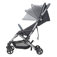 Maxi-Cosi Laika 2 Pushchair (Essential Graphite) - side view, showing the extendable canopy