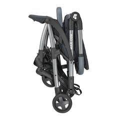 Maxi-Cosi Laika 2 Pushchair (Essential Graphite) - side view, showing the pushchair folded