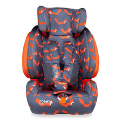 Cosatto Judo Group 123 ISOFIX Car Seat (Mister Fox) - front view, shown here without its insert cushion