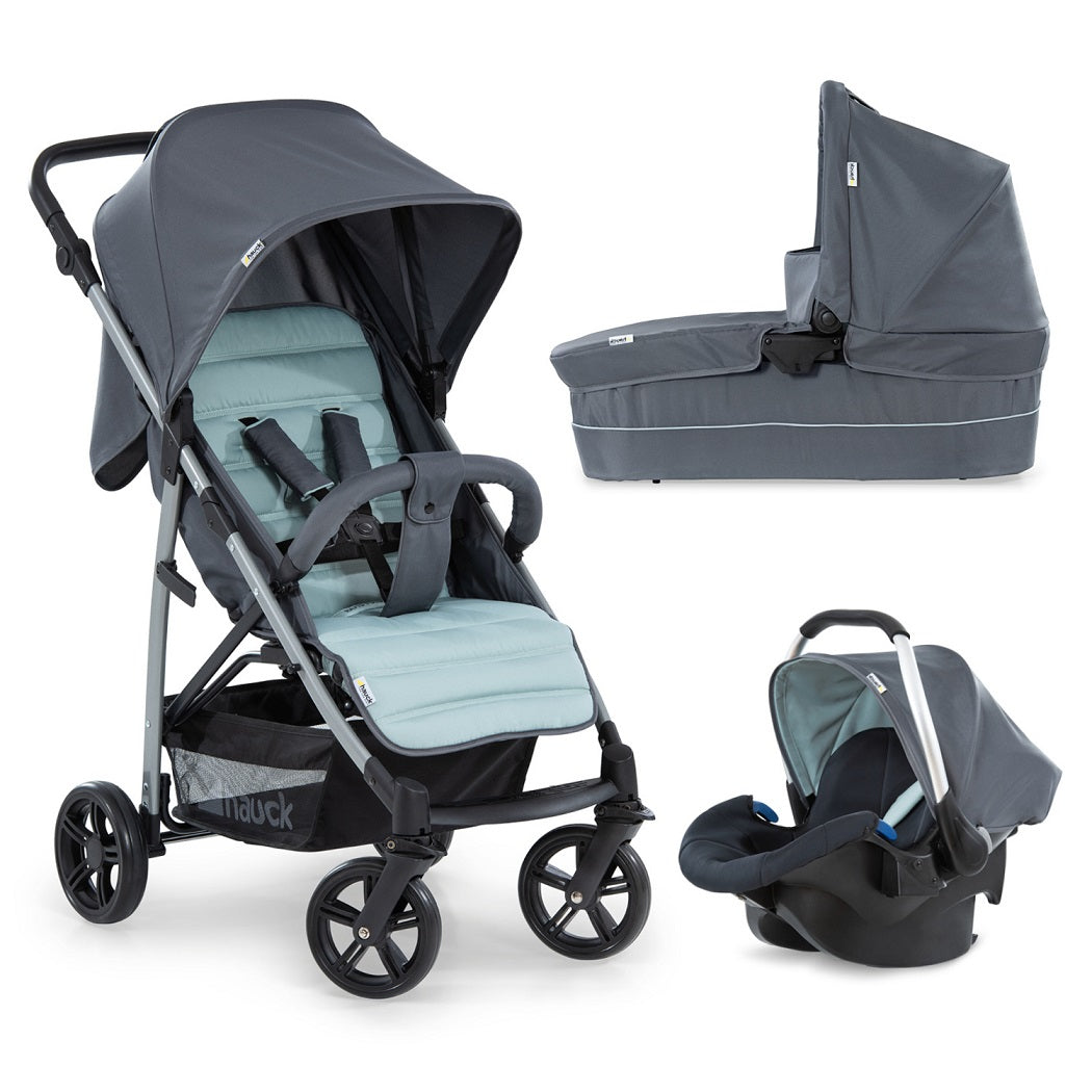 Hauck Rapid 4 Plus Trio Set Travel System (Grey/Mint)