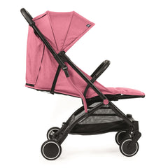Chicco Trolley Me Stroller (Lollipop) - side view, shown here with the seat reclined and leg rest raised