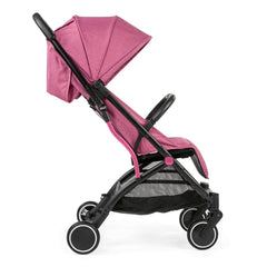 Chicco Trolley Me Stroller (Lollipop) - side view, shown with the seat upright