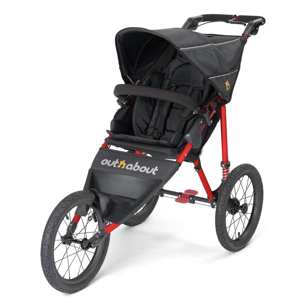 Out n About Nipper Sport V4 Jogger (Raven Black with Red Frame)