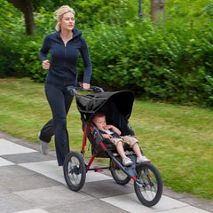 Out n About Nipper Sport V4 Jogger Pushchair (Raven Black with Red Frame) - lifestyle image