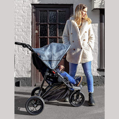 Out n About GT Single Pushchair (Steel Grey) - lifestyle image