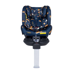 Cosatto All In All Rotate ISOFIX Car Seat - Group 0+123 (On The Prowl) - front view, shown here in forward-facing mode with the newborn insert and the seat reclined