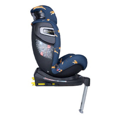 Cosatto All In All Rotate ISOFIX Car Seat - Group 0+123 (On The Prowl) - side view, shown here in forward-facing mode with the headrest raised