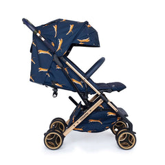 Cosatto Woosh XL Stroller (On The Prowl) - side view, shown here with the seat reclined and hood fully extended