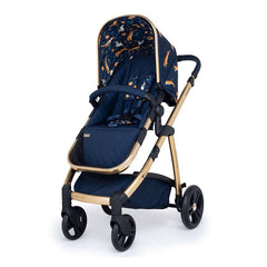 Cosatto Wow Pram & Accessories Bundle - Paloma Faith (On The Prowl) - quarter view, showing the pushchair in forward-facing mode