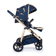 Cosatto Wow Pram & Accessories Bundle - Paloma Faith (On The Prowl) - side view, shown forward-facing with seat upright and leg rest raised