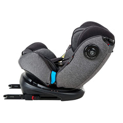 MyChild Chadwick ISOFIX Car Seat - Group 0123 (Black/Grey) - side view, showing the seat`s side impact protector and ISOFIX connection brackets