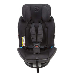 MyChild Chadwick ISOFIX Car Seat - Group 0123 (Black/Grey) - front view, shown here as the high-back booster