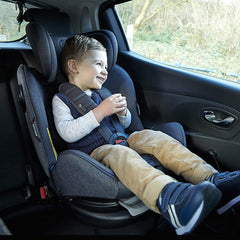 MyChild Chadwick ISOFIX Car Seat - Group 0123 (Black/Grey) - lifestyle image, shown here being used as the booster seat