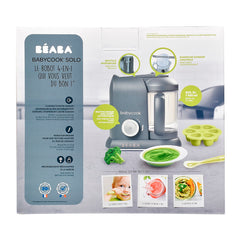 BEABA Babycook Solo (Dark Grey) - showing the packaging with its product details