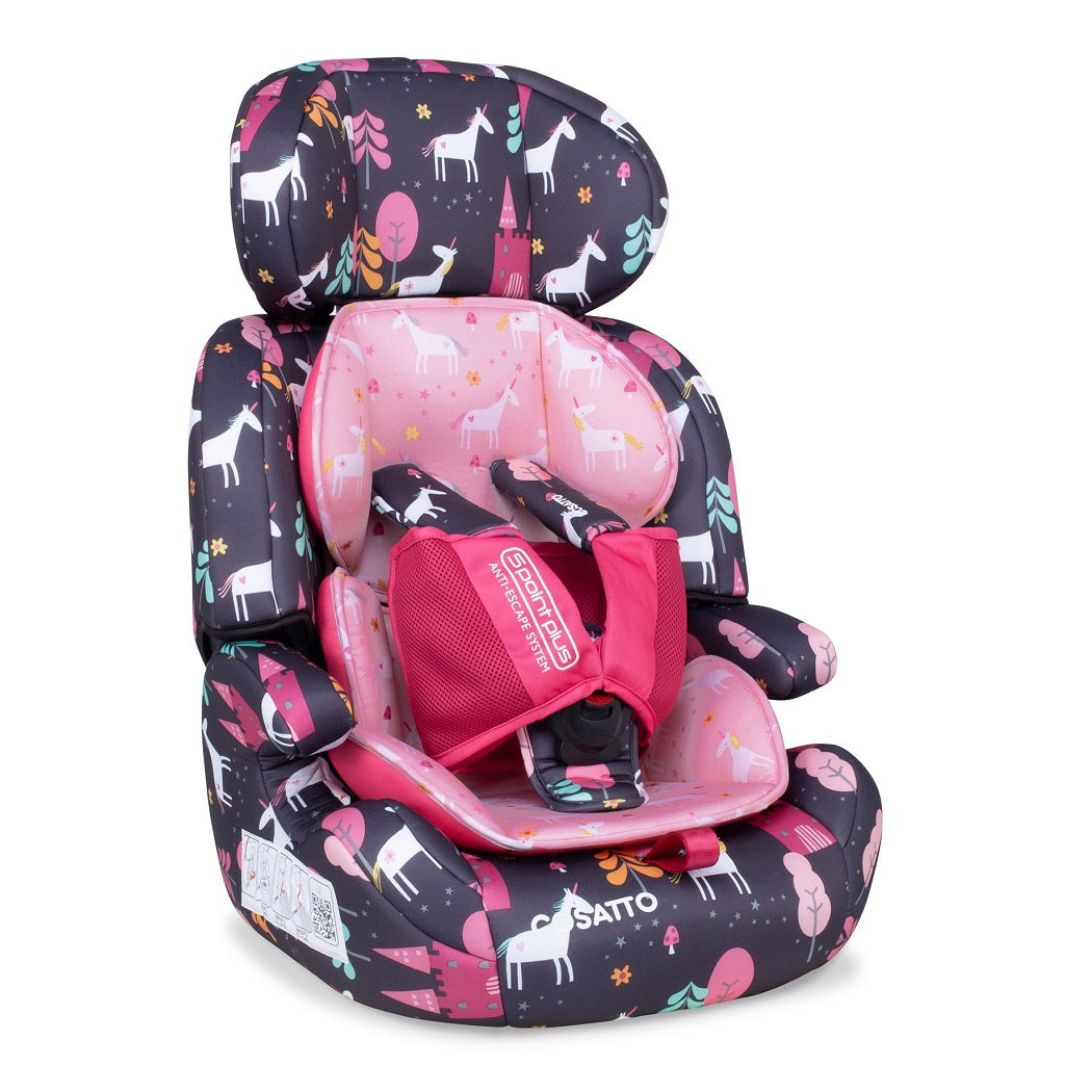 Cosatto Zoomi Group 123 Car Seat with 5 Point Plus (Unicorn Land)