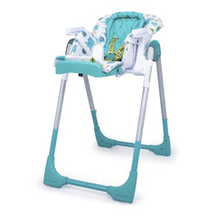 Cosatto Noodle 0+ Highchair (Dragon Kingdom) - quarter view, shown here as the cradle with newborn liner and seat reclined