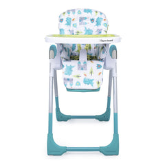 Cosatto Noodle 0+ Highchair (Dragon Kingdom) - front view, shown here with the newborn liner removed and seat upright