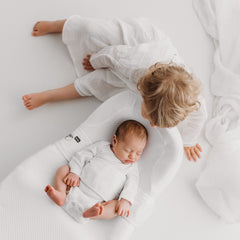 Red Castle Cocoonababy Pod Support Nest (White) - lifestyle image