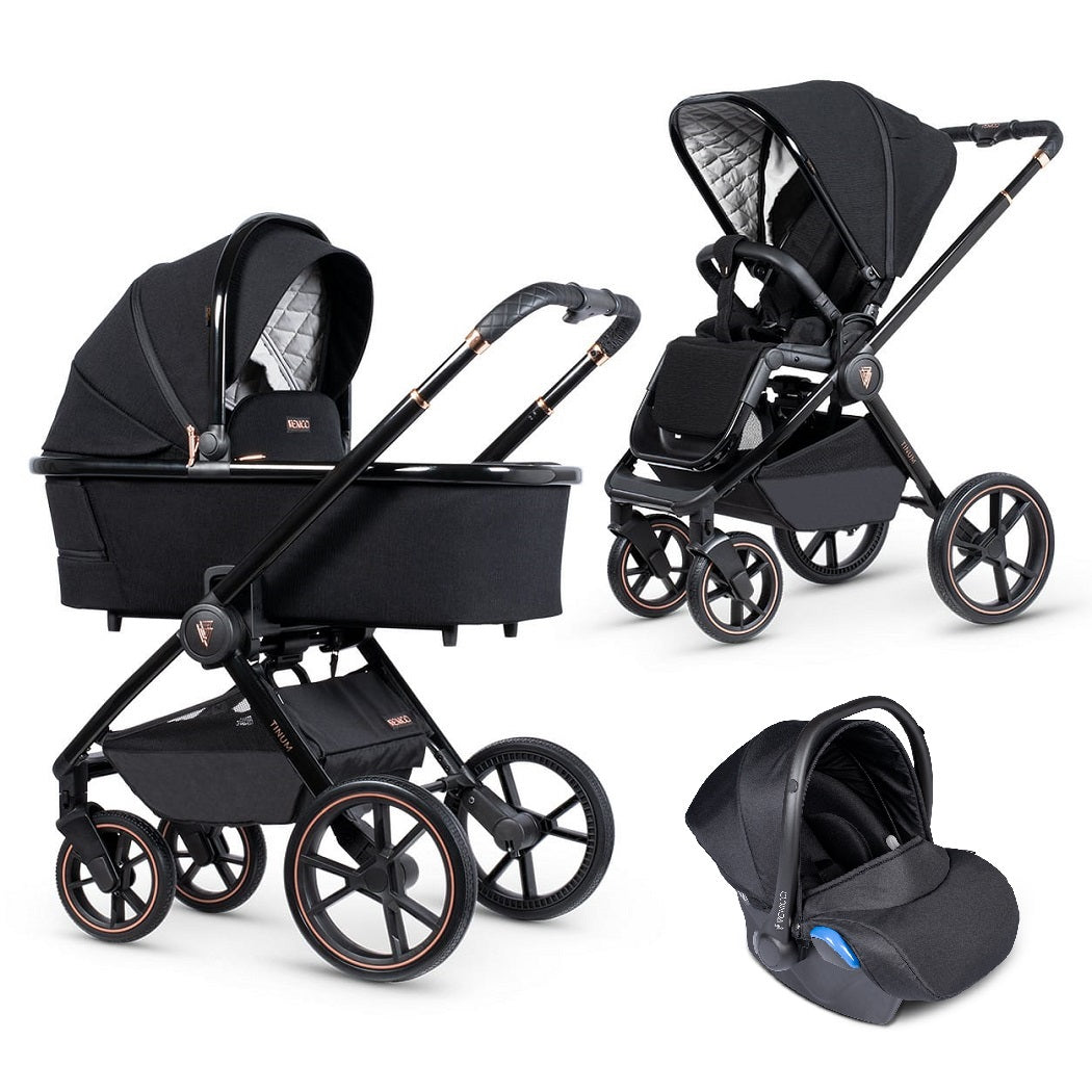 Venicci Tinum 3-in-1 Travel System (Stylish Black - Special Edition)