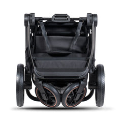 Venicci Tinum 3-in-1 Travel System (Stylish Black SE) - showing the pushchair folded