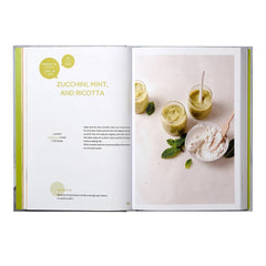 BEABA Neo 4-in-1 Babyfood Bundle - showing a recipe from the included book
