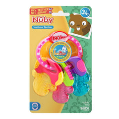 Nuby Icy Bites Teether Keys (Pink) - shown here in their packaging