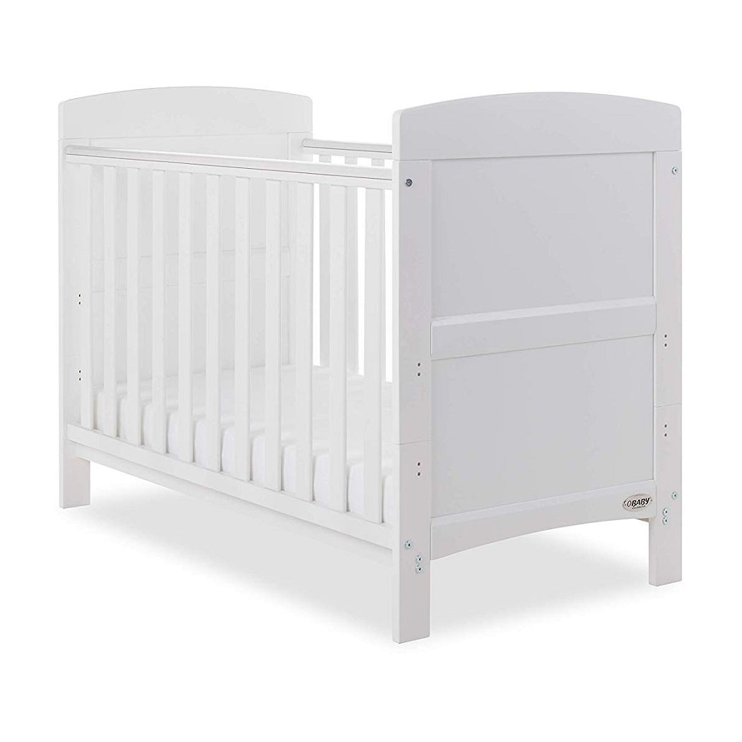 newest 71b99 f70a6 White Obaby Grace Mini Cot Bed | Babythingz