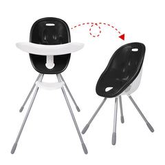 Poppy High Chair by Phil and Teds - Black shown in both configurations