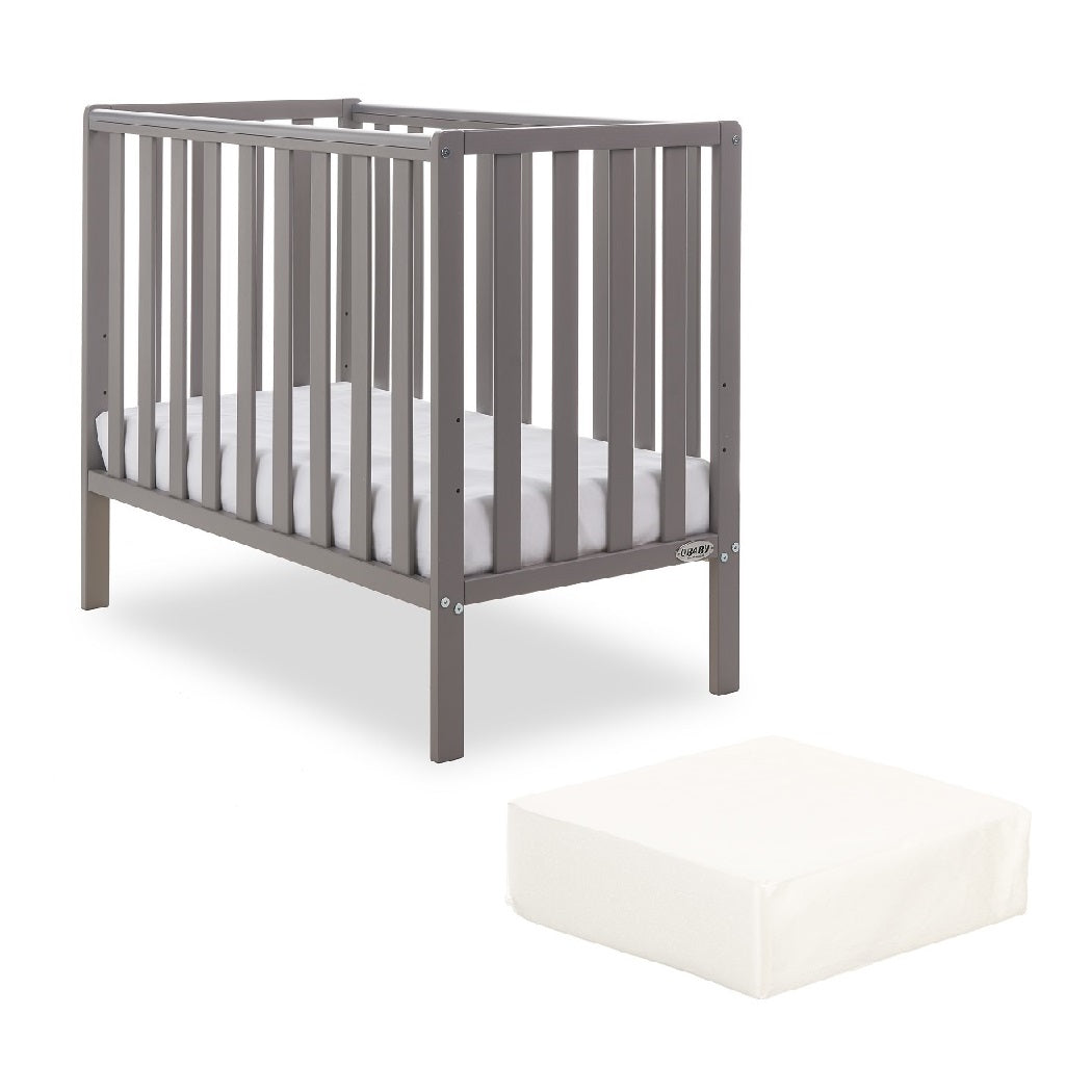 Obaby Bantam Space Saver Cot with FOAM Mattress (Taupe Grey)