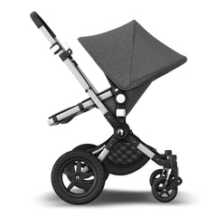 Bugaboo Cameleon 3 Plus (Grey Melange/Aluminium) - side view, showing the parent-facing pushchair