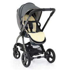 egg2 Luxury Bundle (Jurassic Grey) - showing the stroller in parent-facing mode with its luxury fleece seat liner (liner shown here in cream)