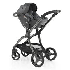 egg Shell i-Size Car Seat (Jurassic Grey) - shown here fixed to the egg2 chassis