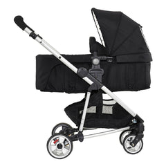 MyChild Floe Convertible Stroller (Silver Star) - side view, shown here as a pram