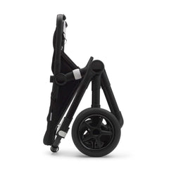 Bugaboo Fox 2 (Black/Black) - side view, showing the chassis folded