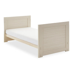 Obaby Nika Cot Bed (Oatmeal) - shown here as the junior bed (mattress and bedding not included)