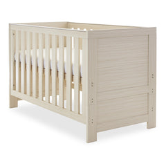 Obaby Nika Cot Bed (Oatmeal) - shown here as the cot (mattress and bedding not included)