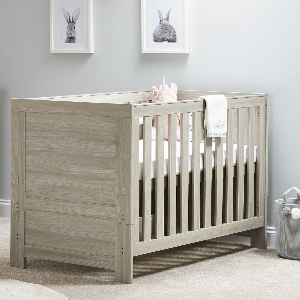 Obaby Nika Cot Bed (Grey Wash)