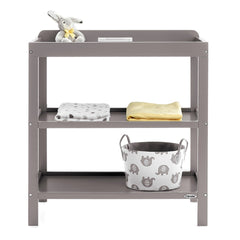 Obaby Open Changing Unit (Taupe Grey) - shown with accessories which are not included