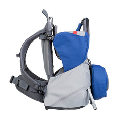 Phil & Teds Parade Baby Carrier (Blue/Grey) - side view