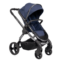 iCandy Peach Phantom Pushchair & Carrycot (Navy Twill) - showing the pushchair in forward-facing mode