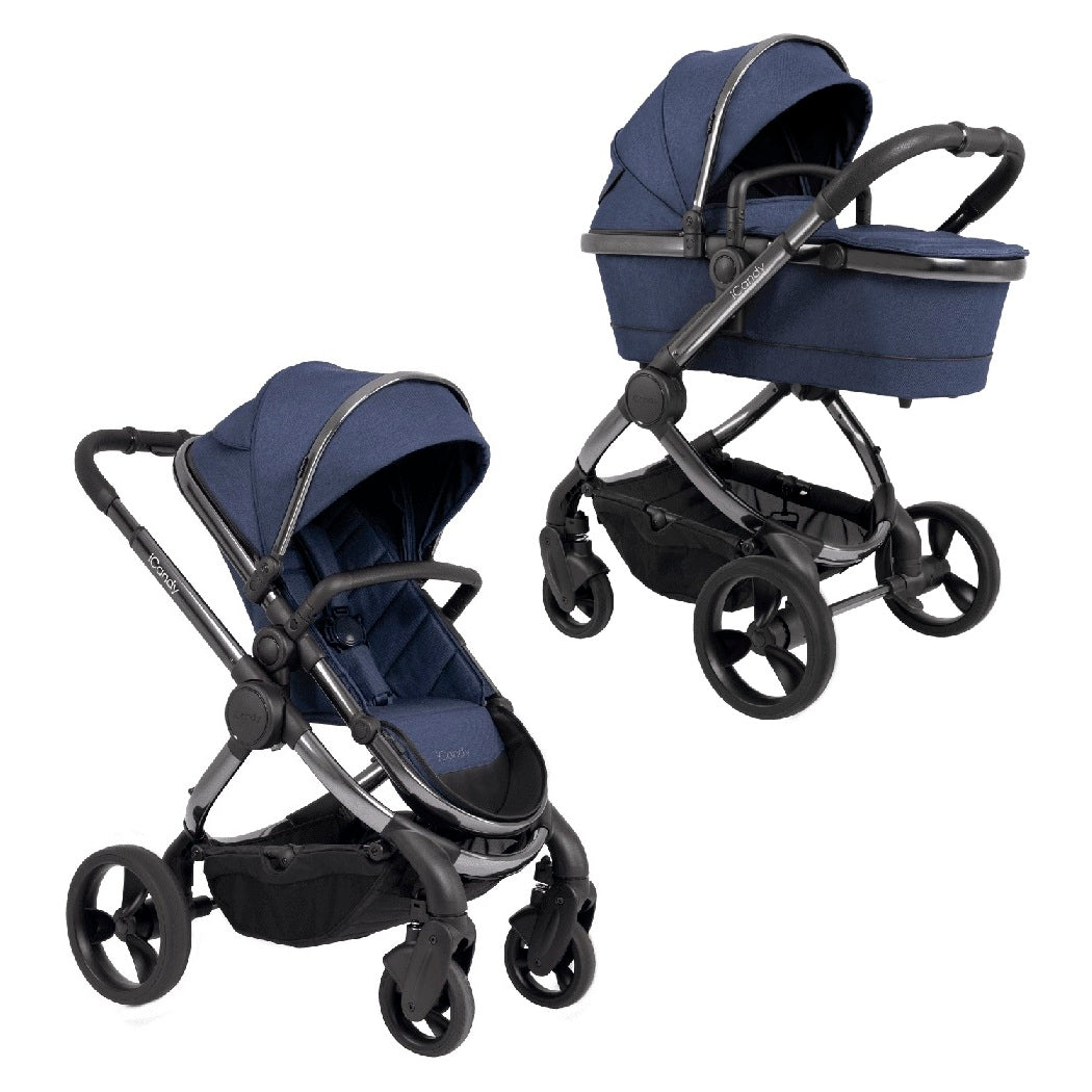 iCandy Peach Phantom Pushchair & Carrycot 2020 (Navy Twill)