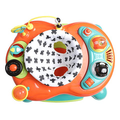 MyChild Roundabout 4-in-1 Activity Walker (Citrus) - overhead view