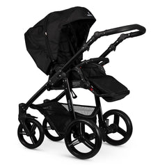 Venicci Soft Edition Black 2-in-1 Pushchair Set (Black) - showing the pushchair in parent-facing mode