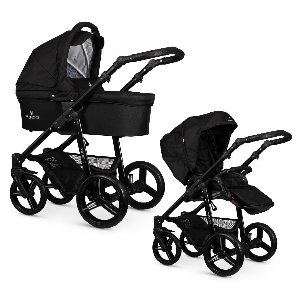 Venicci Soft Edition Black 2-in-1 Pushchair Set (Black)
