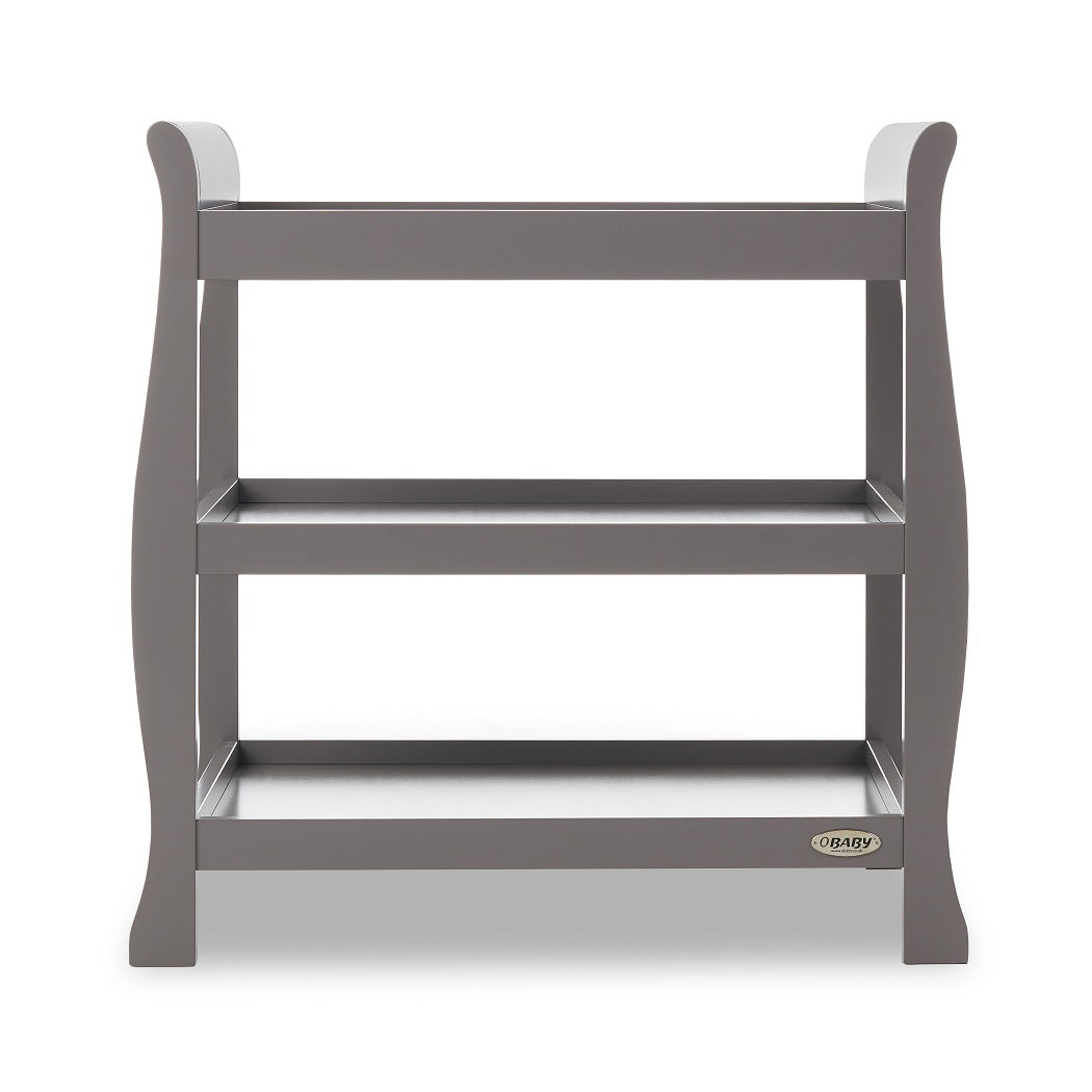 Obaby Stamford Sleigh Open Changing Unit (Taupe Grey)