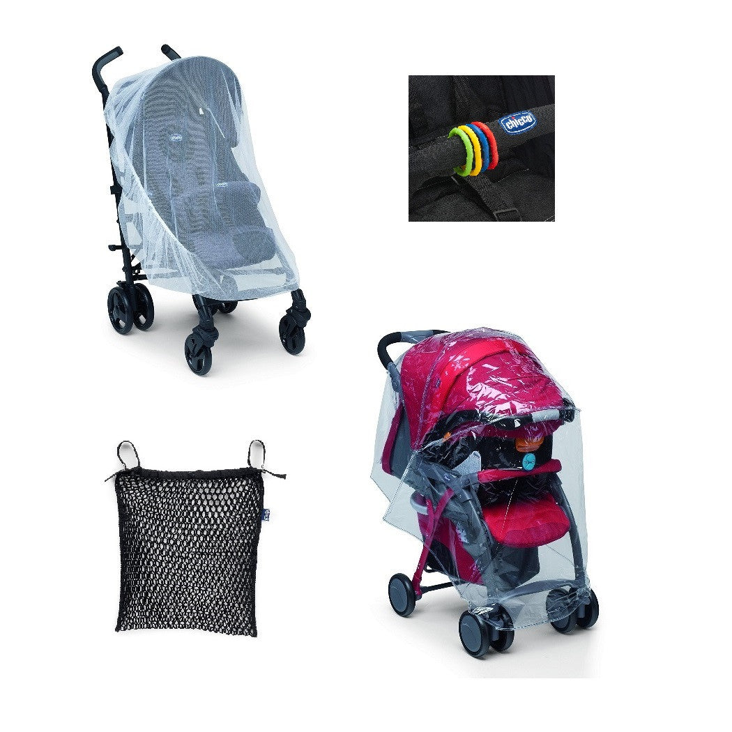 Chicco Stroller Kit - includes raincover and mosquito net