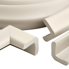 Prince Lionheart Table Edge Guard with Four Corners (Neutral) - showing a close view of the edging and corner