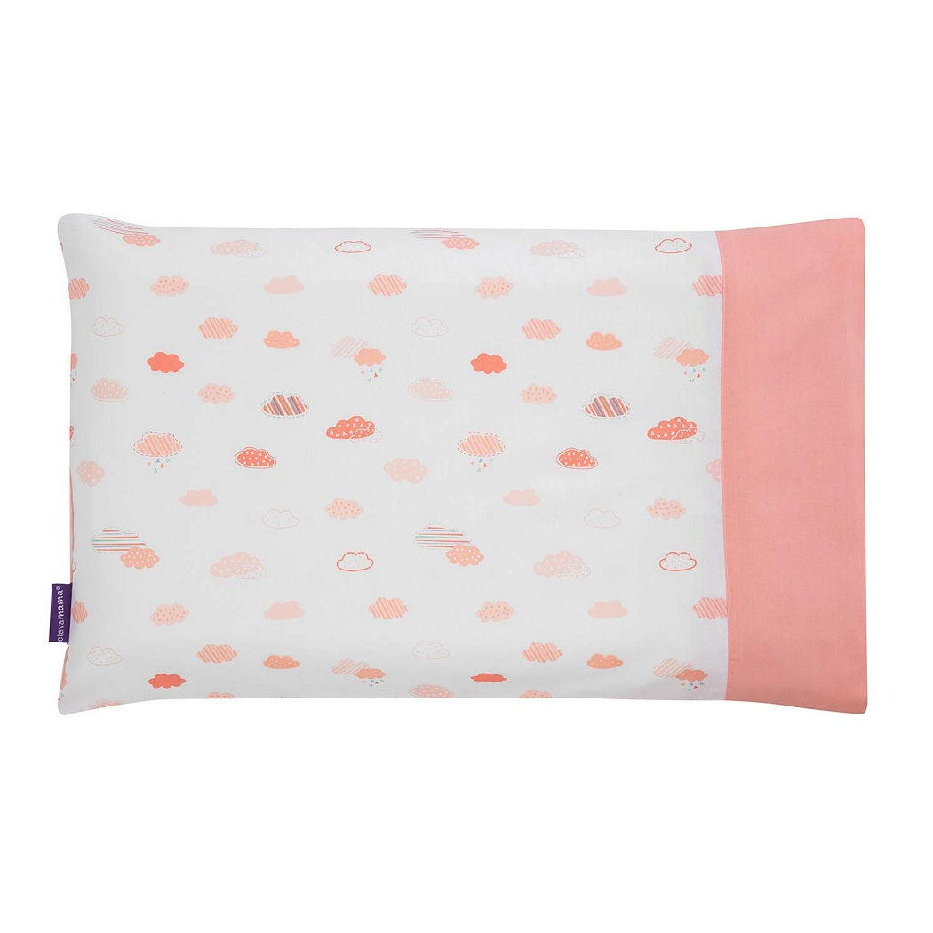 ClevaMama Replacement Toddler Pillow Case Cover (Coral)