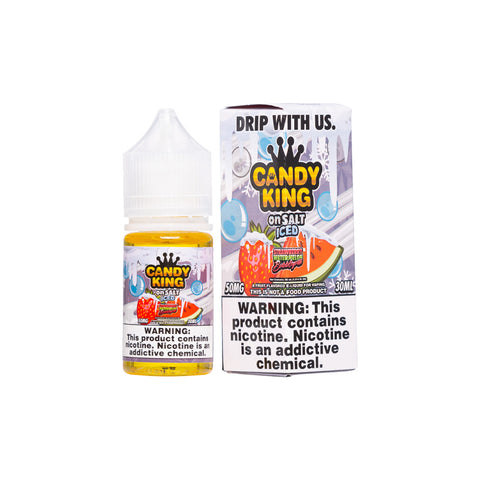 Candy King on Salt Iced - Strawberry Watermelon Bubblegum