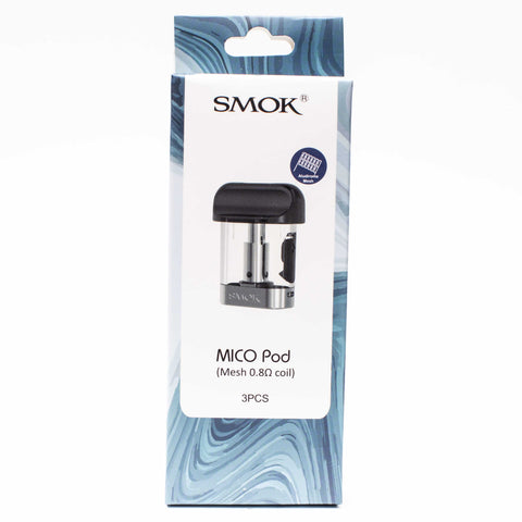 Smok Mico replacement pods 0.8 mesh - Luxe Vape Junction